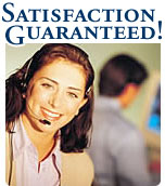Satisfaction guaranteed on all water filter and water treatment systems orders.